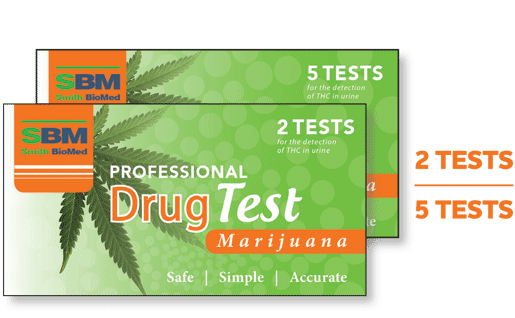 Marijuana (weed) Drug test kit - 2 or 5 pack