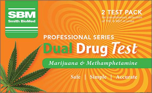 Dual Drug Test Kit for Marijuana and Methamphetamine