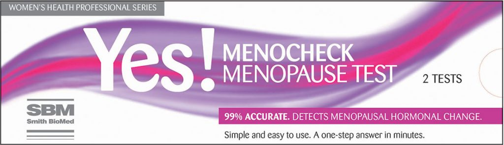 menocheck menopause test by smith biomed