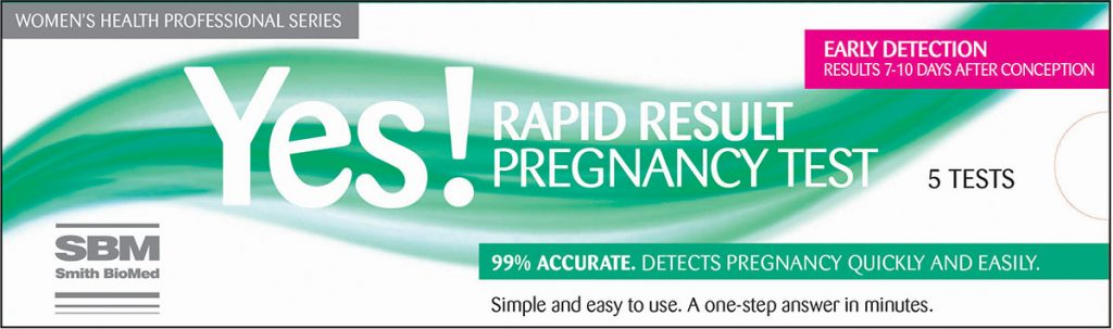 rapid result pregnancy test kits by smith biomed