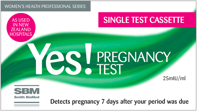 Yes! Pregnancy Test kits - single test cassette by Smith Biomed